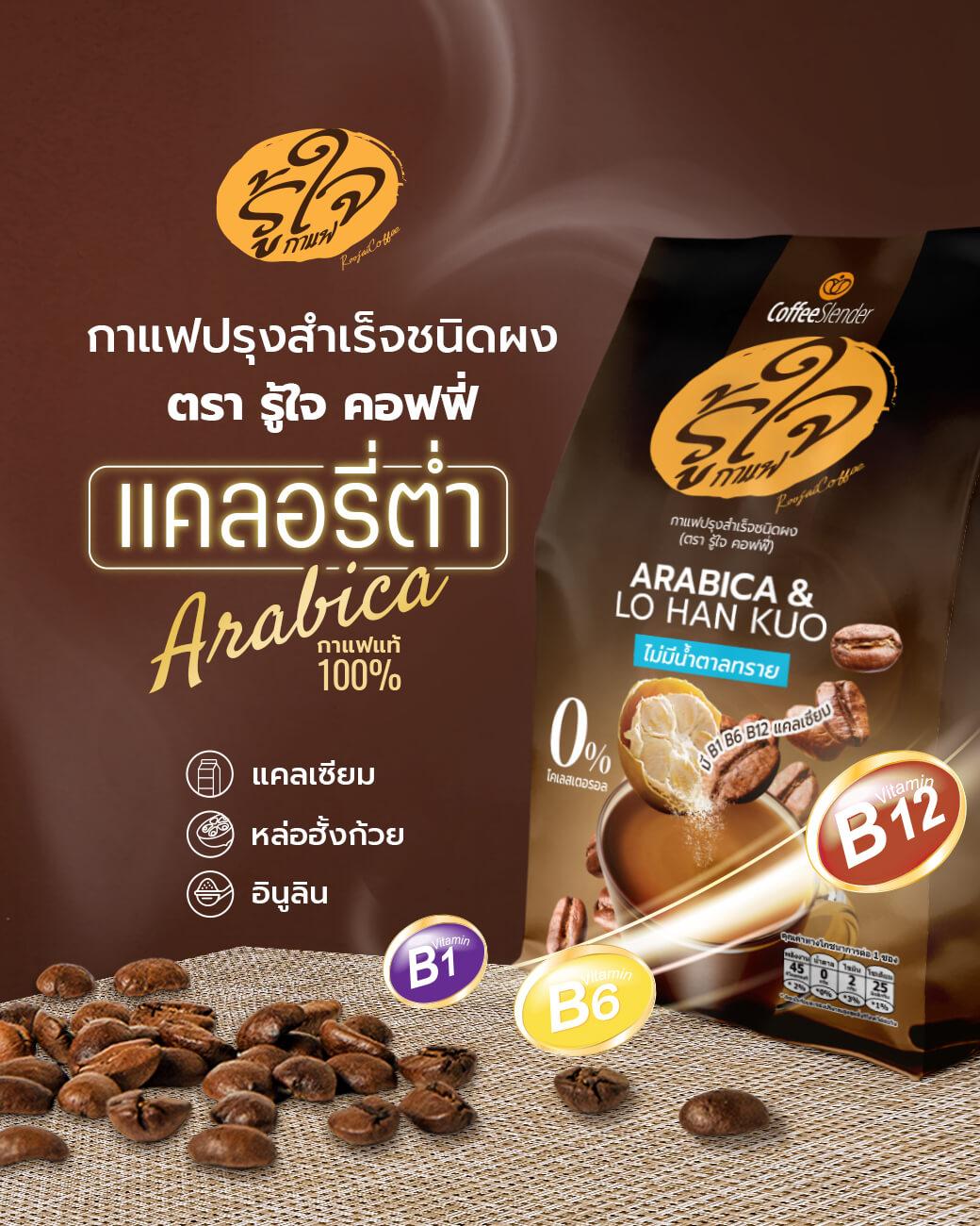 กาแฟรู้ใจ-กาแฟเพื่อสุขภาพ-กาแฟลดน้ำหนัก